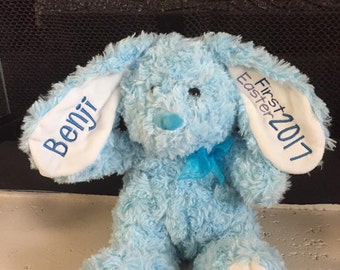 First Easter, Personalized Bunny, Easter plush, Bunny plush, Stuffed bunny