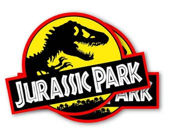 Jurassic Park Movie Decals Pair (2) Removable Magnets for your car or Jeep