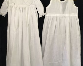 Gorgeous Victorian Baby gown with voile underskirt to match.