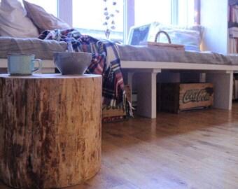 Beautiful varnished or black natural wood logs
