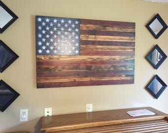 Wooden flag art