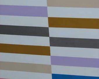"2014 Original Abstract Art Acrylic on Canvas 24 x 36"" Painting ""Cycling Chromo"""