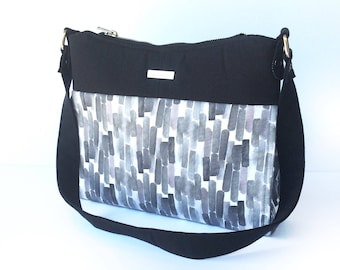 Black Watercolor Gabby Bag