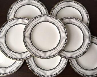 Wedgwood Colonnade Black Salad Plates