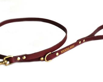 VERONA LEAD, Dog Lead, Dog Leash, Handmade Leather Lead, Leather Lead, Luxury Leather Dog Lead