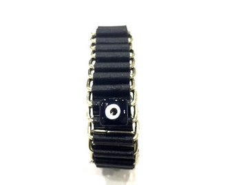 Evil Eye Bracelet with Flat Bead