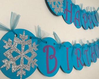 Disney, Frozen Birthday Banner