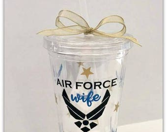 USAF | Wives | Tumbler | Wives | Customized | United States Air Force | Military