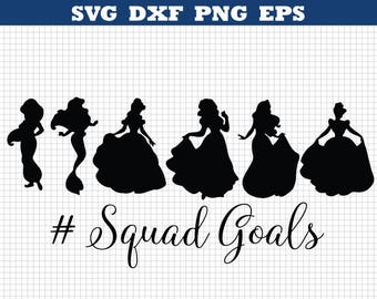 Disney princess svg,Squad goal,Disney princess eps,Disney princess silhouette,Disney princess,Silhouette files,Cutting files