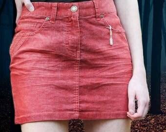 Denim Vintage 70's Moda Short Mini Skirt Style Girl Tumblr Cool Instagram Baddie Sexy