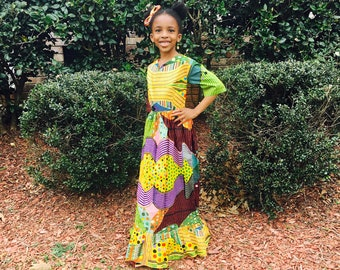 Girls Ankara Dress