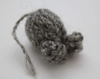 Alpaca-Romney Knitted Natural Cat Toy
