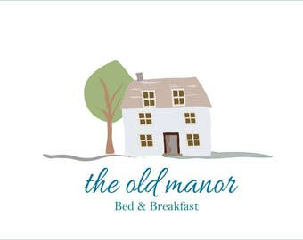Premade Bed and Breakfast Sign. B&B Logo. Premade bed and breakfast logo. Digital Illustration.