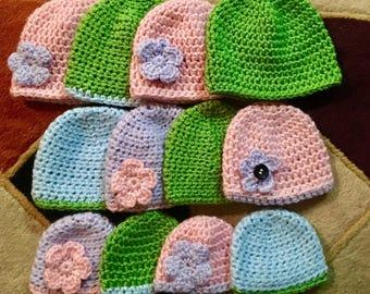 Preemie / newborn / 3mo hats / toddler hats