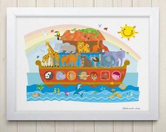 Noah's Ark Print