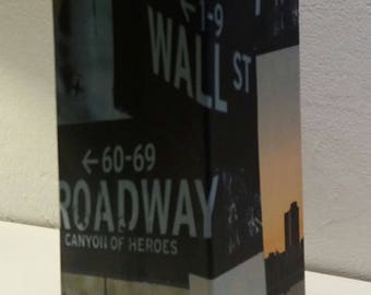 "Vase, decorative object, New York City, series ""Broadway"" recycled cardboard, 1 liter"