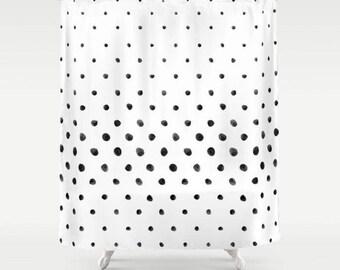 Polka Dot Shower Curtain, kunst duschvorhang, Art Shower Curtain, Shower Curtains, Bathroom Curtain, Bath Curtain, Fabric Bath Curtain