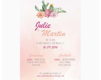 Wedding invitations - Cactus