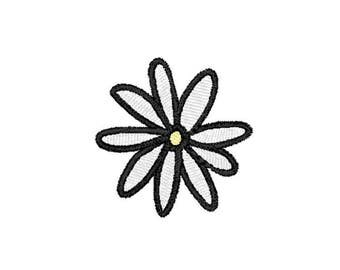 Daisy Machine Embroidery Design – Instant Download (PES, DST, and MORE)