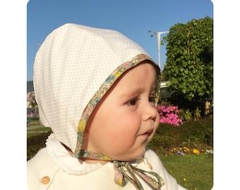 The hood baby Brown;  Brown baby bonnet