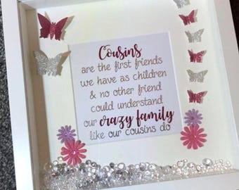 Cousins Quote Frame