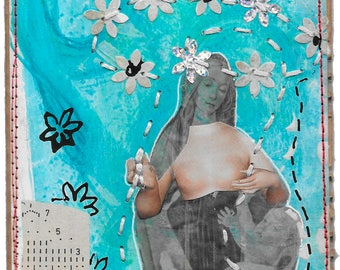 see only the good now - mixed media collage