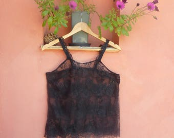 TOP Black Lace to order 34/36 to 46