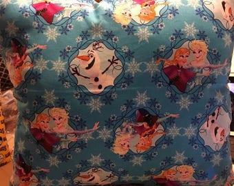 """Frozen -Elsa/Anna/Olaf Pillow 18"""" x 18"""""""