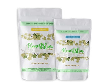 Honestslim 14 Day Starter Pack Weight Loss Tea- 100% Organic Weight Loss, Reduce Bloating, Improve Immunity and Digestive Discomfort Relief