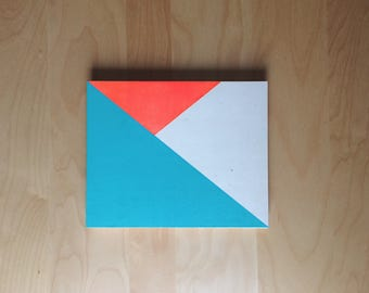 Geometric painting on wood