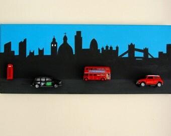 Handpainted London Scene Canvas with Die Cast 3D Detail