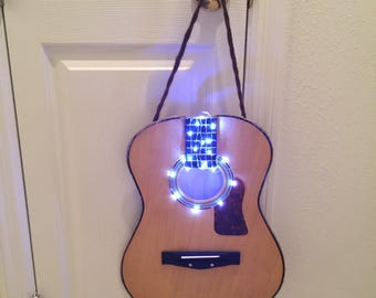 Hanging Guitar Night Light