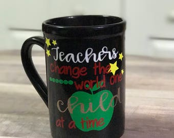 Teacher Coffee Mug - teacher appreciation gift.