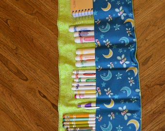 Art Roll Up Organizer, Crayon Roll Up, Art Caddy