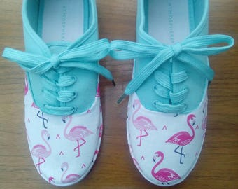 Fabric covered Flamingo Shoes