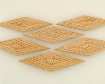 Wood Appliques 1 3/4 X 5 1/4 inches