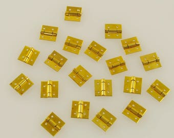 Small Brass Hinges 20 Pieces