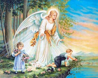 Gaurding AngeL Cross Stitch Pattern***LOOK***
