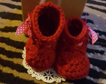 Baby Booties Crochet for Girls