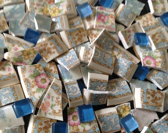 BRoKeN CHiNa MoSAiC TiLeS~~AqUa sweeT PaTTErns~~DawN of Aqua Blues
