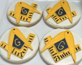 Mason Themed Cookies