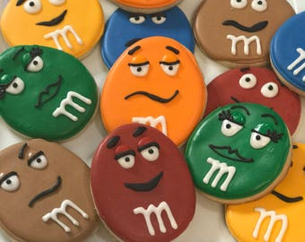 M & M Theme Cookies