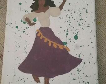 Esemeralda inspired colored painting