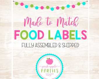 Made to Match - Food Tent Labels