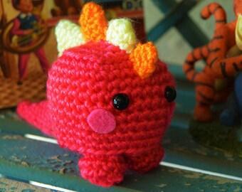 Mini amigurumi dinosaur, Baby dinosaur,  crochet amigurumi monster