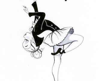 Vampire Ballerina Print