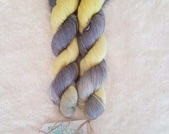Strength. Hand dyed Baby Alpaca/silk/cashmere 4ply/sock yarn