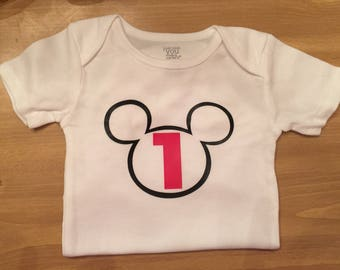 Mickey Mouse custom onesies or shirts