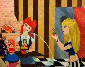 Original Art of Acrylic Painting titled I am Cannibal