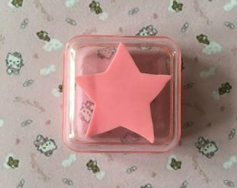 Eraser collection eraser vintage 80 s pink star